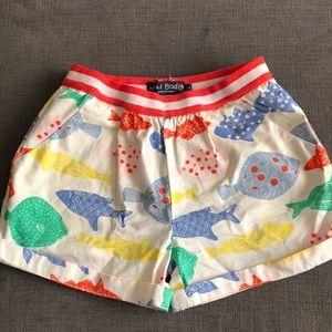 Girls Mini Boden cuffed shorts